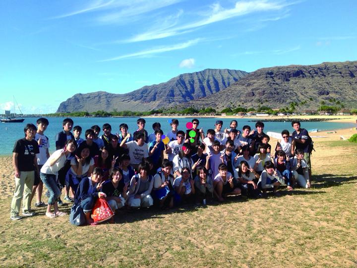 アドバンスコースの修学旅行先のハワイです。