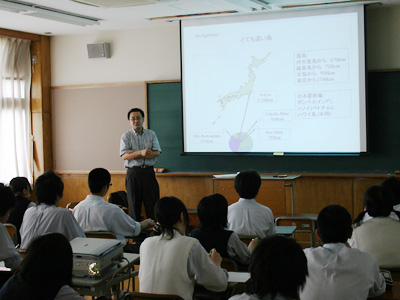 ③東京大学さん沖ノ鳥島の授業(21.6)