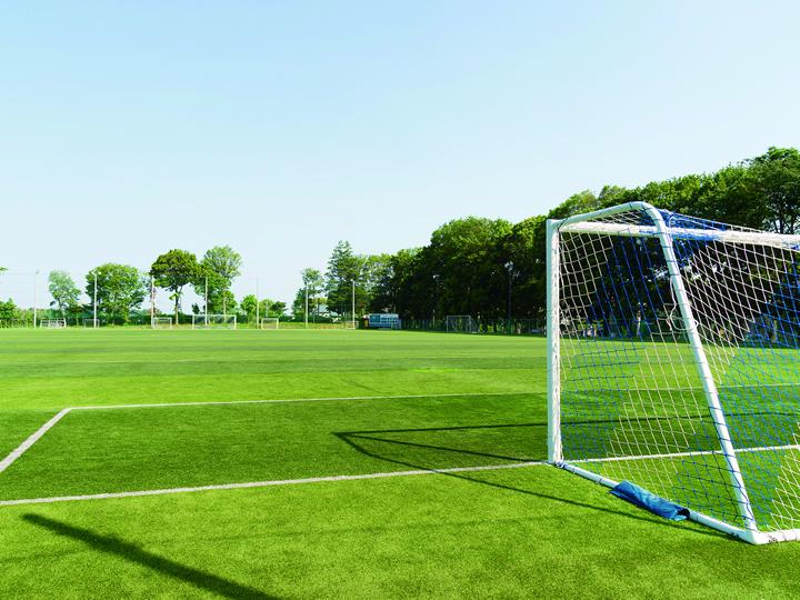 全面人工芝のサッカーグラウンド